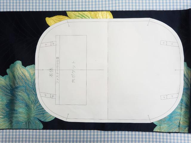 帯バッグの型紙